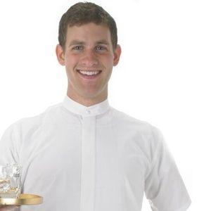 NEW Mens HENRY SEGAL Banded Collar Tuxedo Shirt